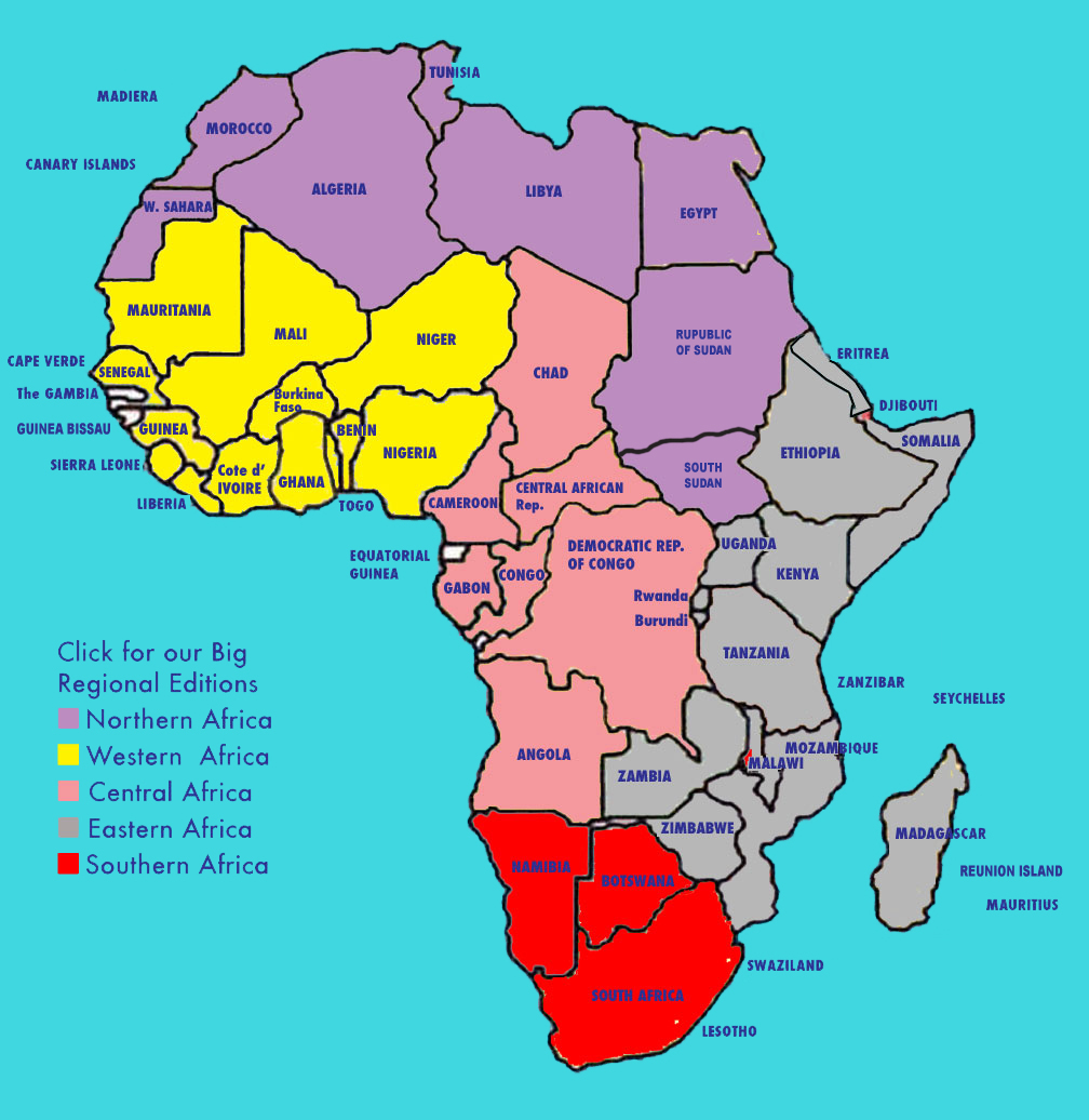 oceans around africa map